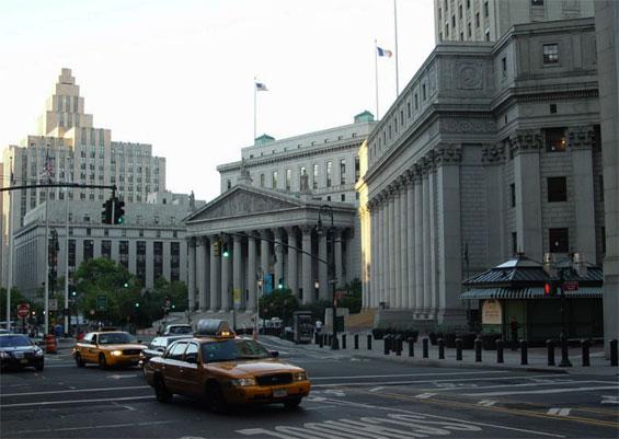 Centre Street and Duane Street, Manhattan